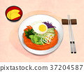 Korean food illustration 004 37204587