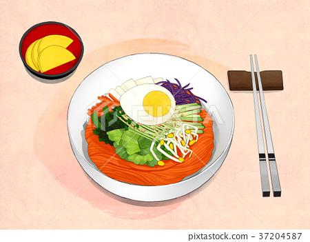 Korean food illustration 004 37204587