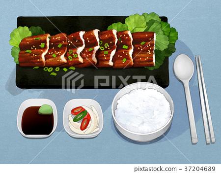 Korean food illustration 013 37204689