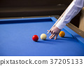 RF photo - object of billiards, cue, billiards balls 140 37205133