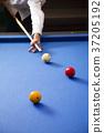 RF photo - object of billiards, cue, billiards balls 096 37205192