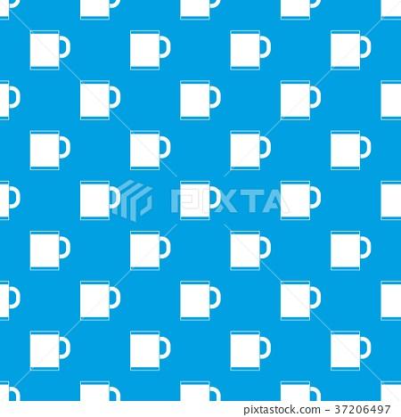Tea mug pattern seamless blue 37206497