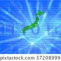 日本地圖 綠色 數碼地 37208999