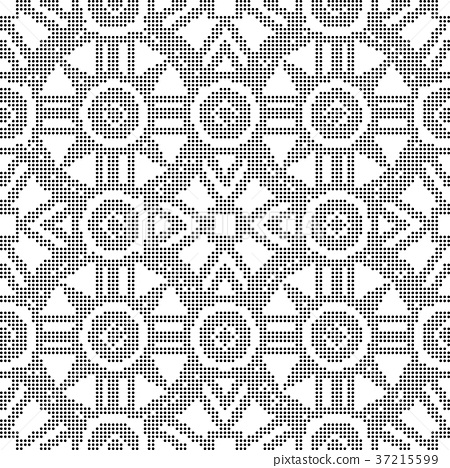 Half tone seamless retro pattern background 37215599