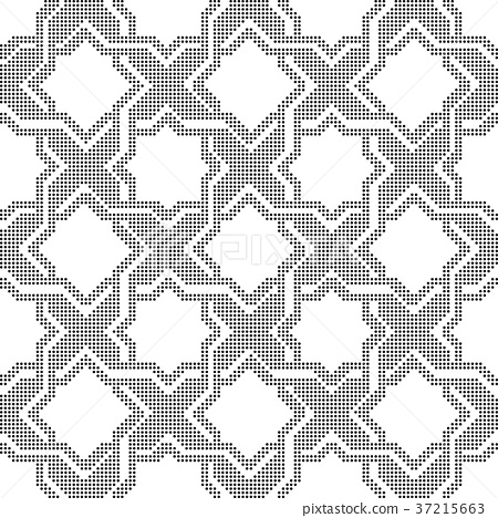 Half tone seamless retro pattern background 37215663