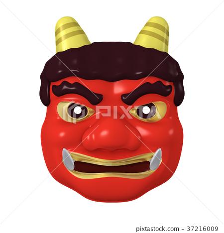 Setsubun's face of red demon 37216009