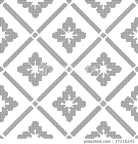 Half tone seamless retro pattern background 37216243