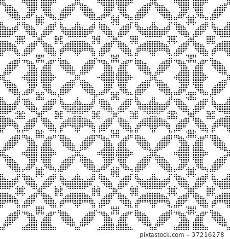 Half tone seamless retro pattern background 37216278
