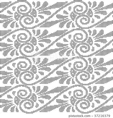 Half tone seamless retro pattern background 37216379