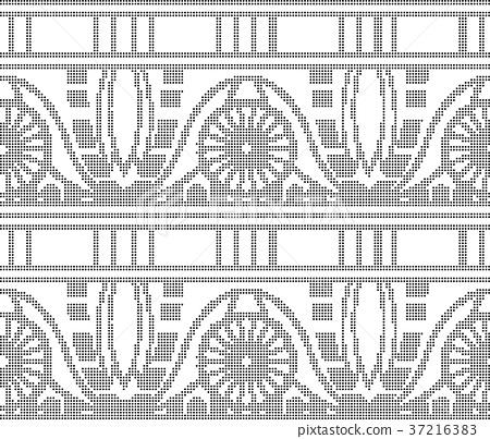 Half tone seamless retro pattern background 37216383