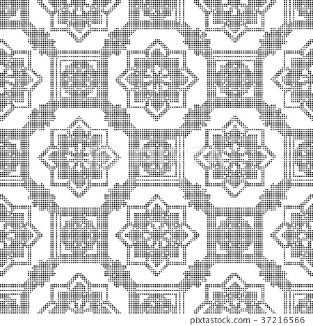 Half tone seamless retro pattern background 37216566