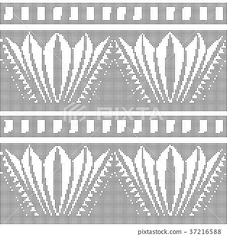 Half tone seamless retro pattern background 37216588