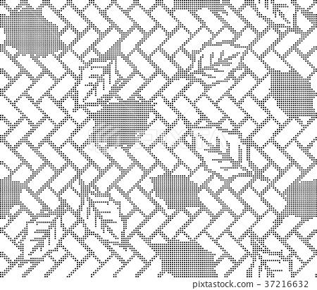 Half tone seamless retro pattern background 37216632