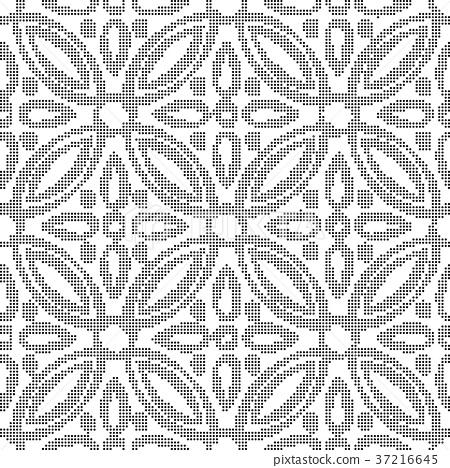 Half tone seamless retro pattern background 37216645