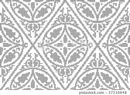 Half tone seamless retro pattern background 37216648