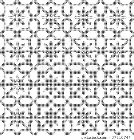 Half tone seamless retro pattern background 37216744