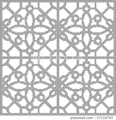 Half tone seamless retro pattern background 37216795