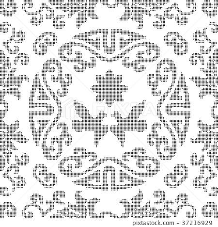 Half tone seamless retro pattern background 37216929