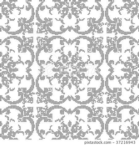 Half tone seamless retro pattern background 37216943
