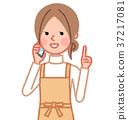 스마트 폰에서 통화중인 여성 (교육) 37217081