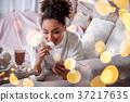 woman marshmallow sofa 37217635