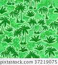 Tropical Palms Silhouettes Seamless 37219075