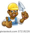 builder, trowel, bricklayer 37219226