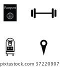 hotel icon set 37220907