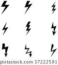 lightning icon set 37222591
