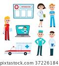 vector, flat, nurse 37226184