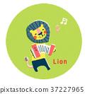 สัตว์,ภาพวาดมือ,แอคคอร์เดียน 37227965