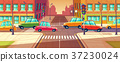 City crossroads, traffic jam, transport moving 37230024