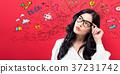 woman, creative, drawing 37231742
