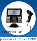 scanner, vector, payment 37231998