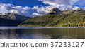 Panorama of Redfish Lake and Braxon Peak. 37233127