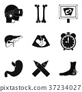 Scrag icons set, simple style 37234027