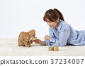 RF photo - woman single life with a companion pets  330 37234097