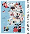 Korea travel map 37238139