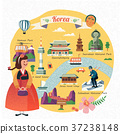 Korea travel illustration 37238148