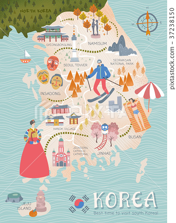 Korea travel map 37238150