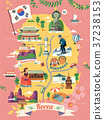 Korea travel map 37238153