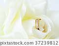 Close up Wedding ring on white 37239812