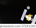 인공위성과 달의 이미지 37241283