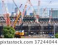 รถขนเครน,การก่อสร้าง,ท้องฟ้า 37244044
