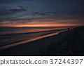 海灘 沙灘 日出 37244397
