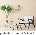 Interior of living room with armchair 3d rendering 37246420