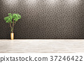 Room with plant interior background 3d rendering 37246422