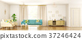 Modern interior of living room panorama 3d render 37246424