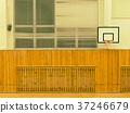 Basket ball hoop on the wall. School sporting hall 37246679