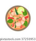 Flat vector thai shrimp sour soup tom yum khung 37250953